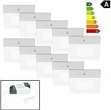 ECD Germany 10-er Pack LED Deckenlampe 12W AC