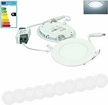 ECD Germany 10-er Pack LED Einbaustrahler 6W -
