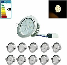 ECD Germany 10-er Pack LED Einbaustrahler 9W 230V