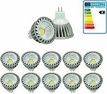 ECD Germany 10-er Pack LED Spot COB MR16 4W -