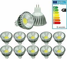 ECD Germany 10-er Pack LED Spot COB MR16 6W -