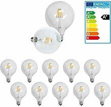 ECD Germany 10-er Set LED Birne Filament - E27 -