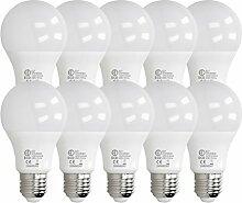 ECD Germany 10 Stück 12W E27 LED Birne | 3000