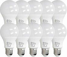 ECD Germany 10 Stück 12W E27 LED Birne | 6000
