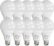 ECD Germany 10 Stück 18W E27 LED Birne | 4000