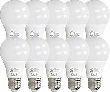 ECD Germany 10 Stück 7W E27 LED Birne | 4000