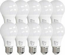 ECD Germany 10 Stück 7W E27 LED Birne | 6000