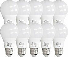 ECD Germany 10 Stück 9W E27 LED Birne | 3000
