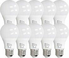 ECD Germany 10 Stück 9W E27 LED Birne | 6000
