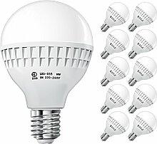 ECD Germany 10 x E27 LED Lampe 9W 240V ca. 584