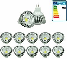 ECD Germany 10er Pack 4W MR16 LED Spot ersetzt 20W