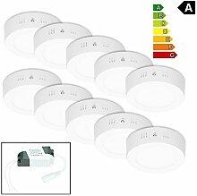 ECD Germany 10er Pack LED Deckenlampe 6W - AC