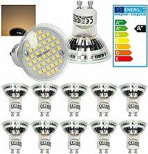ECD Germany 10er Set LED Lampe GU10 44SMD Spot 3W