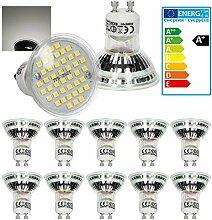 ECD Germany 10er Set LED Spot Lampe GU10 44SMD 3W