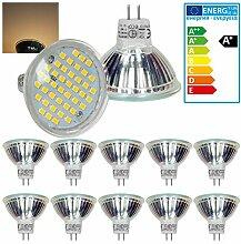 ECD Germany 10er Set LED Spot MR16 44SMD 3W -
