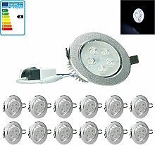 ECD Germany 12-er Pack LED Einbaustrahler 5W 230V