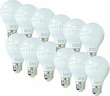 ECD Germany 12 Stück 7W E27 LED Lampe | 6000