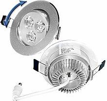 ECD Germany 12er Pack LED Einbaustrahler 3W 230V -