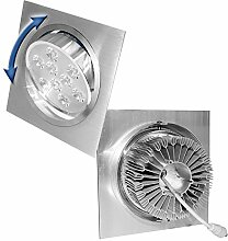ECD Germany 12er Pack LED Einbaustrahler 9W 230V