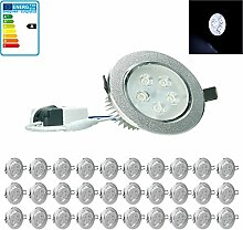 ECD Germany 20-er Pack LED Einbaustrahler 5W 230V