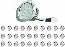ECD Germany 20er Pack LED Einbaustrahler 9W 230V -