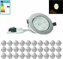 ECD Germany 30-er Pack LED Einbaustrahler 5W 230V