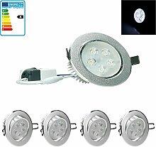 ECD Germany 4-er Pack LED Einbaustrahler 5W 230V -