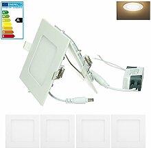 ECD Germany 4-er Pack LED Einbaustrahler 6W -