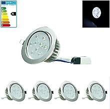 ECD Germany 4-er Pack LED Einbaustrahler 9W 230V -