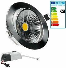 ECD Germany 4-er Pack LED Einbaustrahler COB 9W