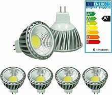 ECD Germany 4-er Pack LED Spot COB MR16 6W -