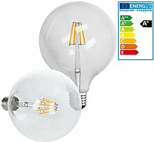 ECD Germany 4-er Set LED Birne Filament - E27 -