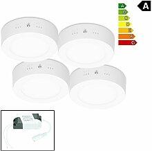 ECD Germany 4er Pack LED Deckenlampe 12W - AC