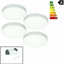 ECD Germany 4er Pack LED Deckenlampe 24W | AC
