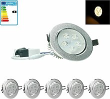 ECD Germany 5-er Pack LED Einbaustrahler 5W 230V -