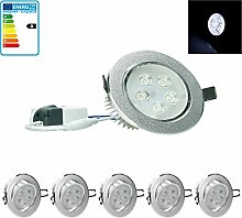 ECD Germany 5-er Pack LED Einbaustrahler 5W 230V -