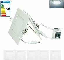 ECD Germany 5-er Pack LED Einbaustrahler 6W -