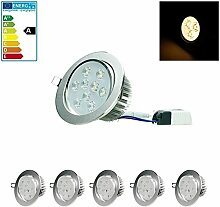 ECD Germany 5-er Pack LED Einbaustrahler 9W 230V -