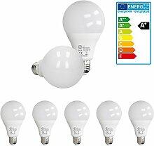 ECD Germany 5 Stück 18W E27 LED Birne | 4000