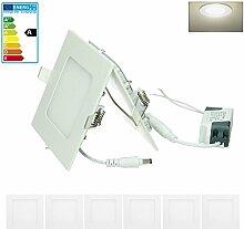 ECD Germany 6-er Pack LED Einbaustrahler 6W -