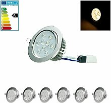 ECD Germany 6-er Pack LED Einbaustrahler 9W 230V -