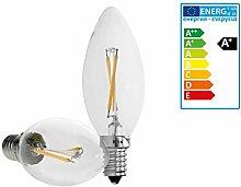ECD Germany 6-er Pack LED Kerze Filament E14-2W -