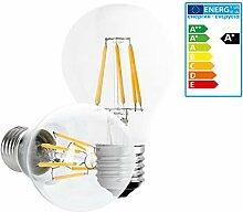ECD Germany 6-er Set LED Birne Filament - E27 -