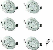 ECD Germany 6er Pack LED Einbaustrahler 9W 230V -