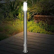 ECD Germany Außenlampe 111 cm mit 2 Steckdosen -