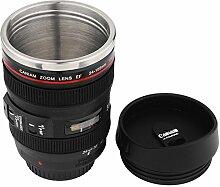 ECHI kaffee krug - 1: 1imitation 24 - 105 caniam kamera objektiv kaffee cup - reise thermoskanne 13.5oz (400ml) innenraum aus edelstahl, kunststoff exterieur - schwarz