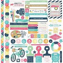Echo Park Aufkleber aus Karton Paper zur kreativen