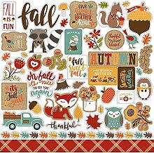 Echo Park Celebrate Autumn Cardstock Stickers