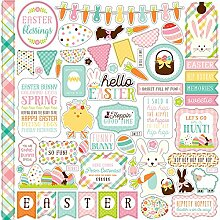 Echo Park Hello Easter Cardstock Stickers