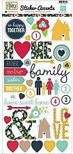 Echo Park Paper Our Family Accents Aufkleber, 15,2